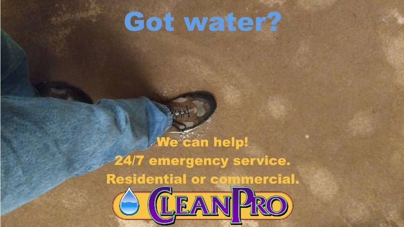 In need of water damage restoration? We can help!